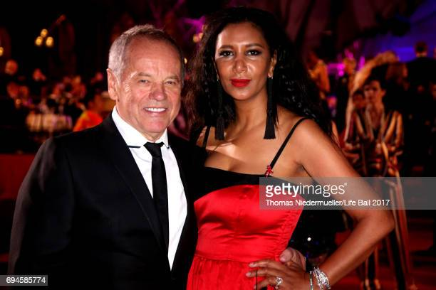 Wolfgang Puck and Gelila Puck arrive for the Life Ball 2017 at City Hall on June 10 2017 in Vienna Austria