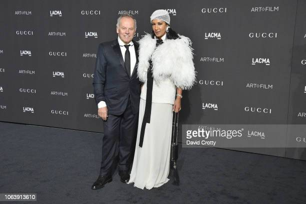 Wolfgang Puck and Gelila Puck attend LACMA Art Film Gala 2018 at Los Angeles County Museum of Art on November 3 2018 in Los Angeles CA
