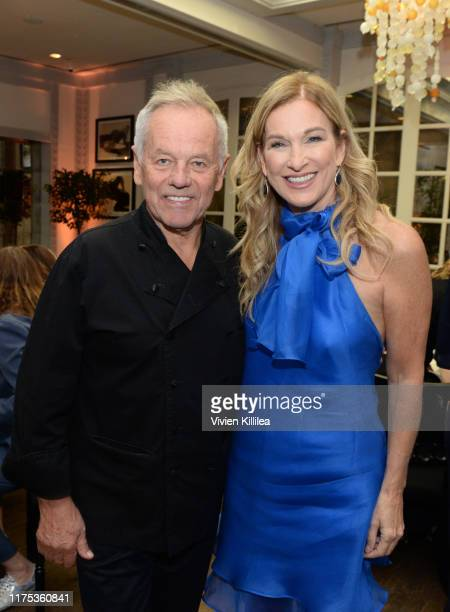 Wolfgang Puck and President of The Recording Academy Deborah Dugan attend Billboard Women's Luncheon In Honor Of Deborah Dugan at Spago on October 11...