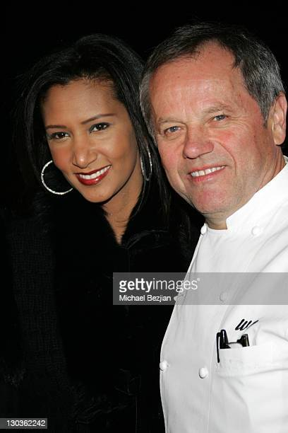 Wolfgang Puck and Wife during 2006 Warner Music Group GRAMMY Arrivals in Los Angeles California United States