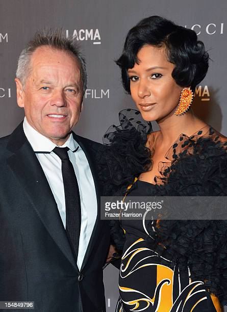 Wolfgang Puck and wife Gelila Pulk Puck arrive at LACMA 2012 Art Film Gala Honoring Ed Ruscha and Stanley Kubrick presented by Gucci at LACMA on...
