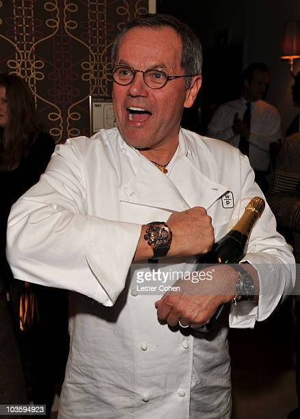 Wolfgang Puck attends the Kara Ross NY Oscar Collection Cocktail Party at the Sunset Tower Hotel on February 21 2008 in Los Angeles California