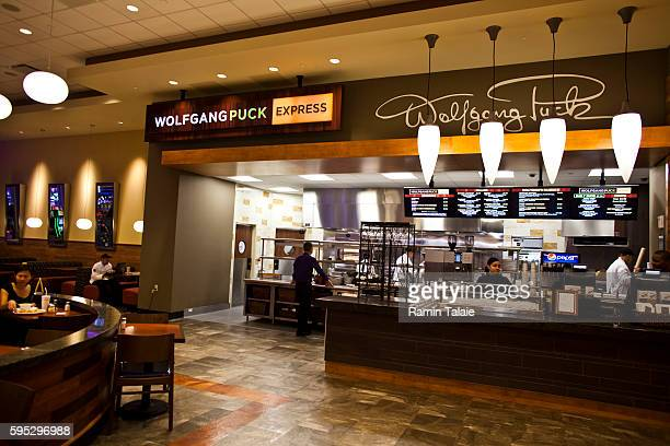 A Wolfgang Puck Express outlet in the food court area in the Genting's new Resorts World New York casino at Aqueduct Race Track in Jamaica section of...