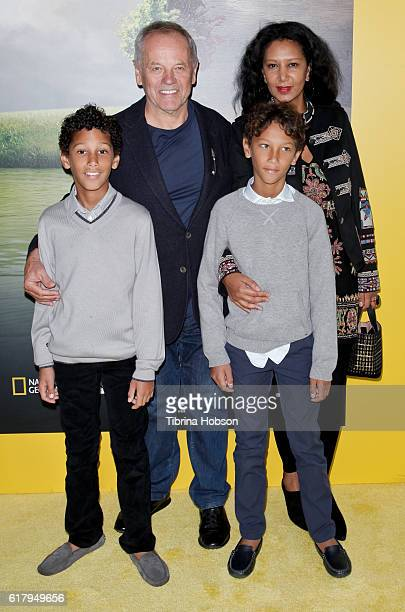 Wolfgang Puck, Gelila Assefa and their children, Alexander Puck and Oliver Puck, attend the Screening of National Geographic Channel's 'Before The...