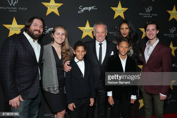 Wolfgang Puck Gelila Assefa Byron Puck Alexander Wolfgang Puck Cameron Puck and Oliver Wolfgang Puck attend the celebratory party in honor of...