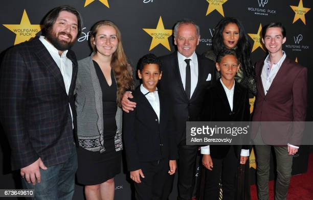 Wolfgang Puck Gelila Assefa Byron Puck Alexander Wolfgang Puck Cameron Puck and Oliver Wolfgang Puck attends a Celebration in honor of Wolfgang Puck...