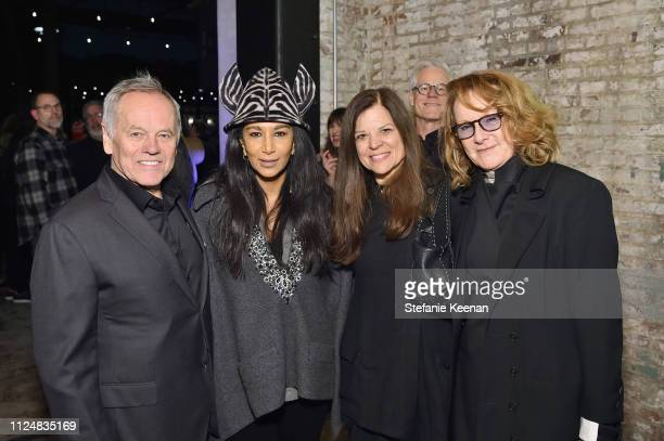 Wolfgang Puck Gelila Puck guest and Ann Philbin attend Hauser Wirth Los Angeles Opening of Annie Leibovitz and Piero Manzoni and Musical Performance...