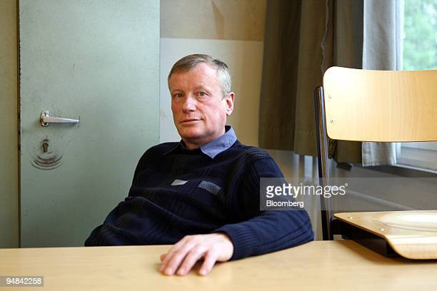 Wolfgang Renner a math and physics teacher at the Clara Zetkin Middle School poses in a classroom at the school in Freiberg Germany on Thursday Sept...