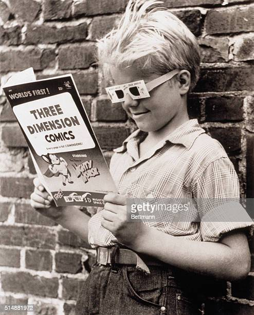 Wolfgang Routa age 10 is enthralled by the latest fad comic books in 3D New York 1953