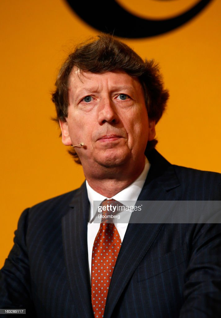 Wolfgang Schaefer, chief financial officer of Continental AG, speaks during a news conference to announce earnings in Frankfurt, Germany, on Thursday, March 7, 2013. Continental AG, Europe's second-largest maker of auto parts, stuck with its 2013 forecasts even as the region's auto market declines in the first quarter more than industry executives had anticipated. Photographer: Ralph Orlowski/Bloomberg via Getty Images