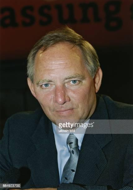 Wolfgang Schaeuble * Politiker CDU D Fraktionsvorsitzender der Fraktion im Deutschen Bundestag Bundesvorsitzender der CDU Porträt