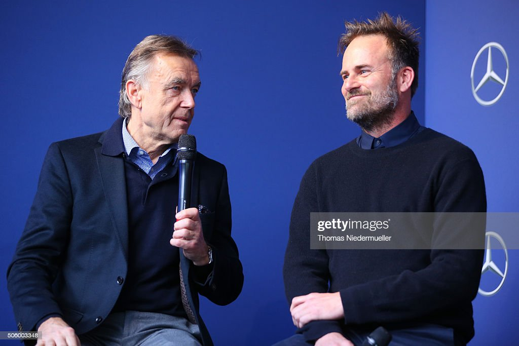 Wolfgang Schattling and Jeff Bark attend the Mercedes-Benz Fashion Talk during the Mercedes-Benz Fashion Week Berlin Autumn/Winter 2016 at Brandenburg Gate on January 21, 2016 in Berlin, Germany.