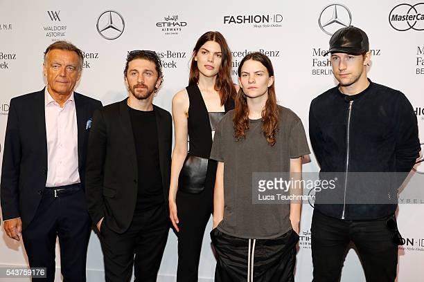 Wolfgang Schattling David Koma deisgner Lucie Von Alten Eliot Paulina Sumner and Swedish director Christian Larson attend the MercedesBenz Fashion...