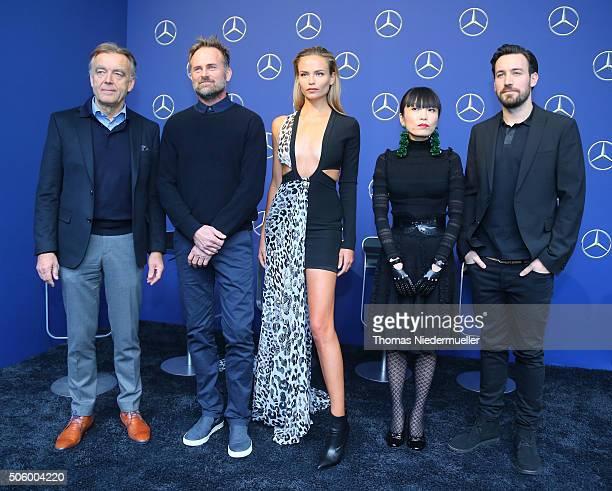 Wolfgang Schattling, Jeff Bark, Natasha Poly, Atsuko Kudo and Jan Koeppen attend the Mercedes-Benz Fashion Talk during the Mercedes-Benz Fashion Week...