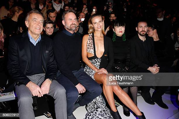 Wolfgang Schattling, Jeff Bark, Natasha Poly, Atsuko Kudo and Jan Koeppen attend the Xavi Reyes presented by Mercedes-Benz & Elle show during the...