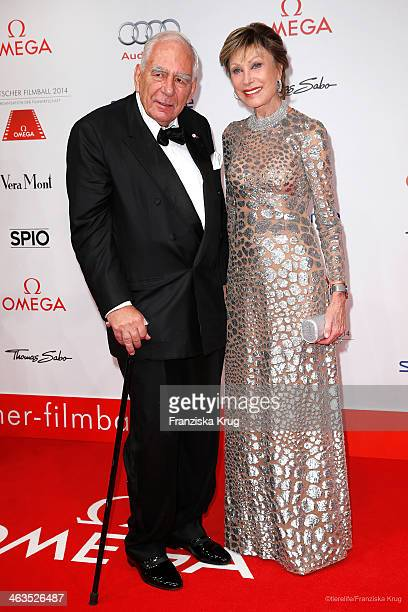 Wolfgang Seybold and Antje Kuehnemann attend the German Film Ball 2014 on January 18 2014 in Munich Germany