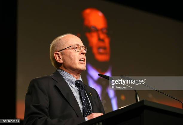 Wolfgang Springer of Dortmund speaks during the annual general meeting of German first division Bundesliga football club Borussia Dortmund on...