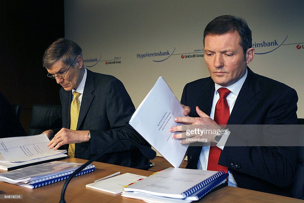 Wolfgang Sprissler, HypoVereinsbank chief executive officer, : News Photo