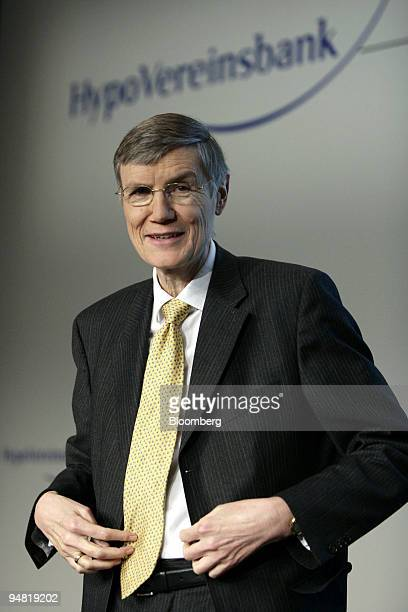Wolfgang Sprissler HypoVereinsbank chief executive officer pauses during the annual press conference in Munich Germany Thursday March 23 2006 HVB...