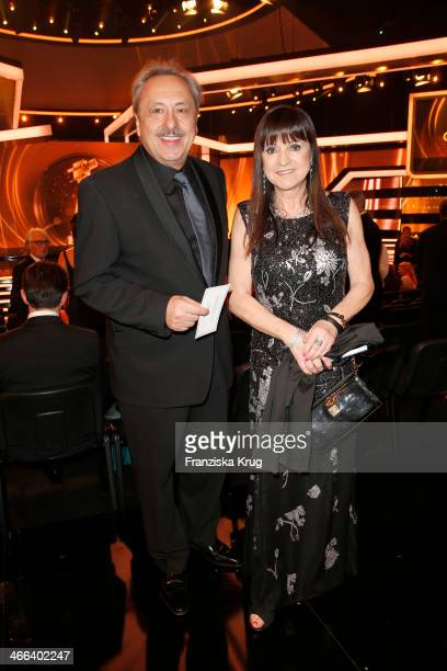 Wolfgang Stumph and Christine Stumph attend the Goldene Kamera 2014 at Tempelhof Airport on February 01 2014 in Berlin Germany