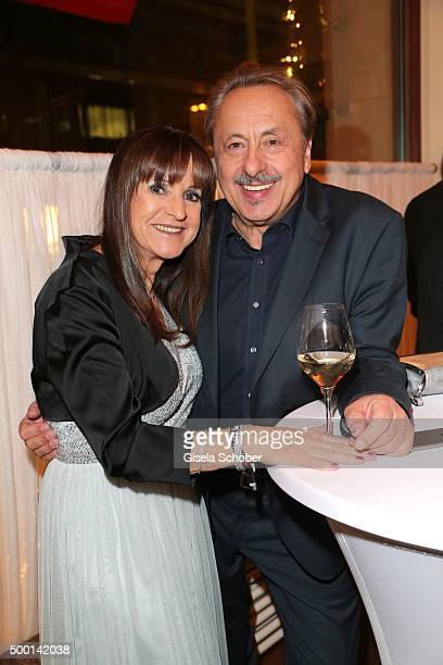 Wolfgang Stumph and his wife Christine Stumph during the Ein Herz Fuer Kinder gala 2015 after show party at Borchardt Restaurant on December 5, 2015...