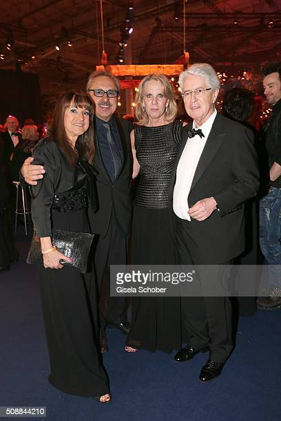 Wolfgang Stumph and his wife Christine Stumph Frank Elstner and his wife Britta Elstner during the after show party of the Goldene Kamera 2016 on...