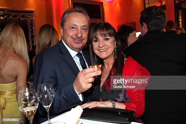 Wolfgang Stumph and hiw wife Christine during the Audi Generation Award 2014 at Hotel Bayerischer Hof on December 3, 2014 in Munich, Germany.