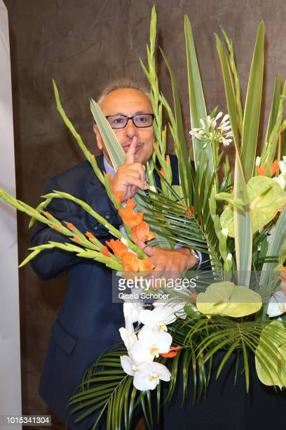 Wolfgang Stumph behind flowers during the 11th GRK Golf Charity Masters reception on August 11, 2018 at The Westin Hotel in Leipzig, Germany.