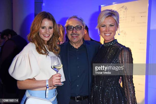 Wolfgang Stumph Mareile Hoeppner and Kamilla Senjo during the Blue Hour Party hosted by ARD during the 69th Berlinale International Film Festival at...