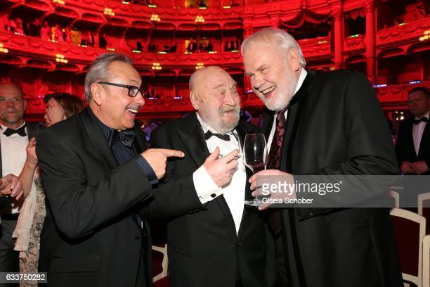 Wolfgang Stumph, Rolf Hoppe and Gunther Emmerlich during the Semper Opera Ball 2017 at Semperoper on February 3, 2017 in Dresden, Germany.