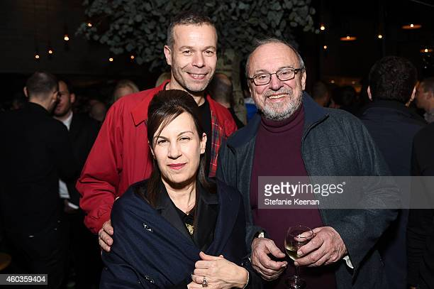 Wolfgang Tillmans Maureen Paley and Blake Byrne attend Regen Projects' 25th Anniversary Party on December 11 2014 in Los Angeles California