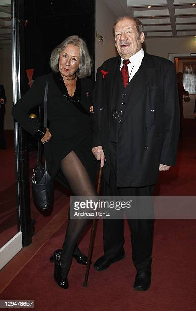 Wolfgang Voelz and wife Roswitha Voel attend the Artists against Aids Gala 2011 at Theater des Westens on October 17 2011 in Berlin Germany