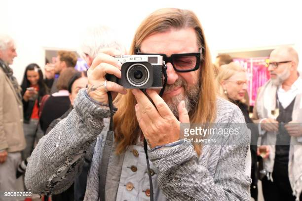 Wolfgang W Sohn attends the 'LACHAPELLE Negative Currency' Exhibition Opening at Geuer und Geuer on April 24 2018 in Duesseldorf Germany The...