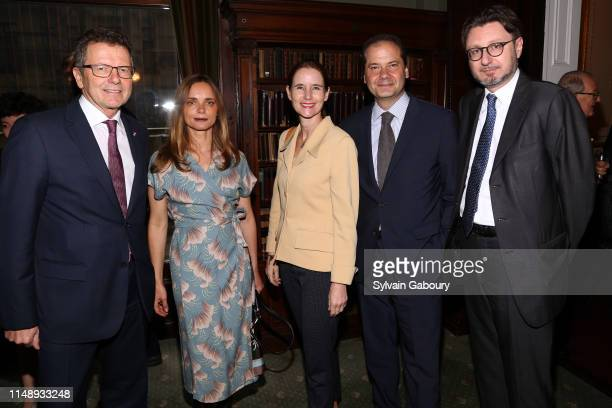 Wolfgang Waldner, Nina Hollein, Gudrun Waldner, Max Hollein and Michael Haider attend AAF Cultural Luncheon at The Metropolitan Club on May 13, 2019...