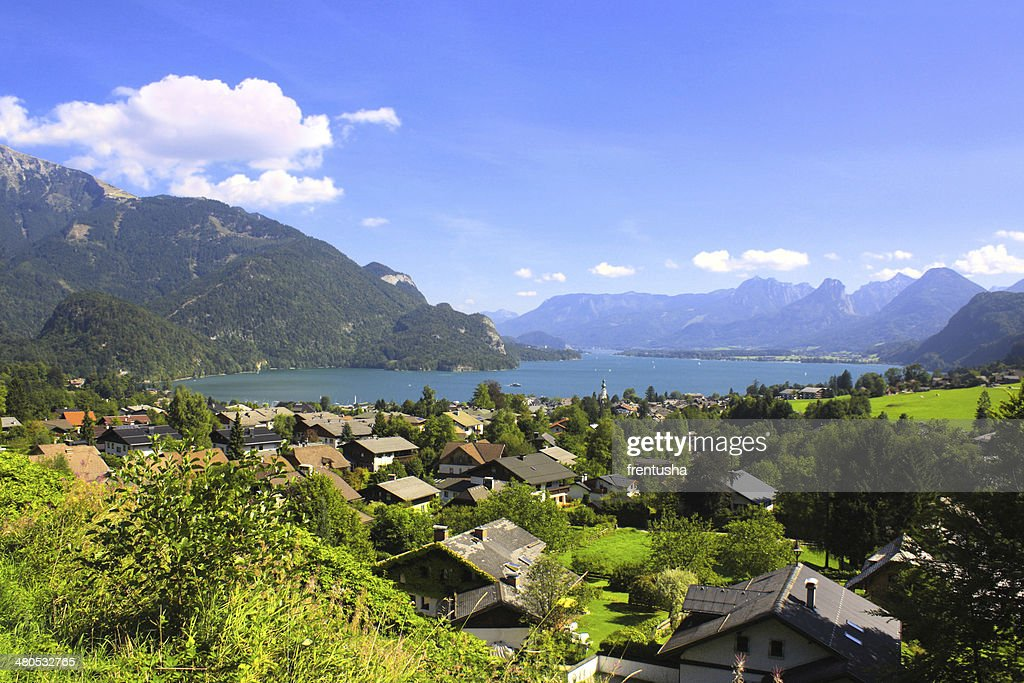 Wolfgangsee lake in Alps, Austria : Stock Photo