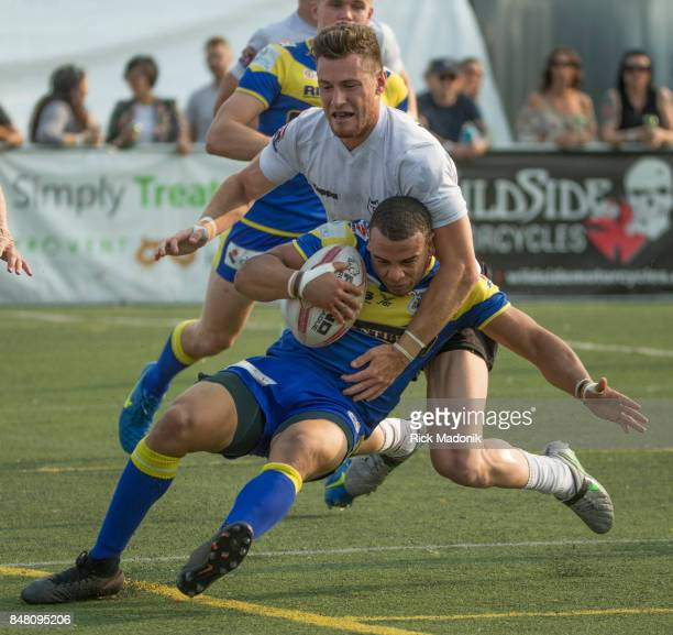 Wolfpacks Blake Wallace takes Doncaster's Makali Aizue to the ground The Toronto Wolfpack 2nd half action as they host the final home game of the...