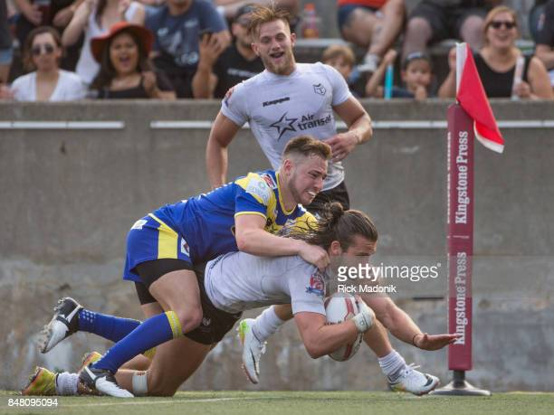 Wolfpacks Liam Kay scores a try and gives his side the lead The Toronto Wolfpack 2nd half action as they host the final home game of the inaugural...