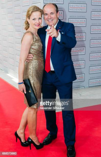 Wolfram Kons and Alexa Apermann are seen during the German Media Award 2016 at Kongresshaus on May 25 2017 in BadenBaden Germany The German Media...