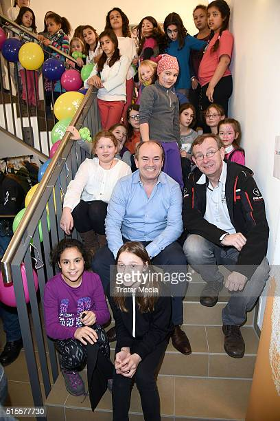 Wolfram Kons and Bernd Siggelkow attend the Opening of the new RTL children's house 'Arche' on March 14 2016 in Berlin Germany