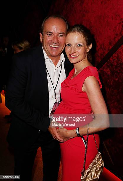 Wolfram Kons and his wife Alexa attend the premiere of the film 'The Expendables 3' at Residenz Kino on August 6 2014 in Cologne Germany