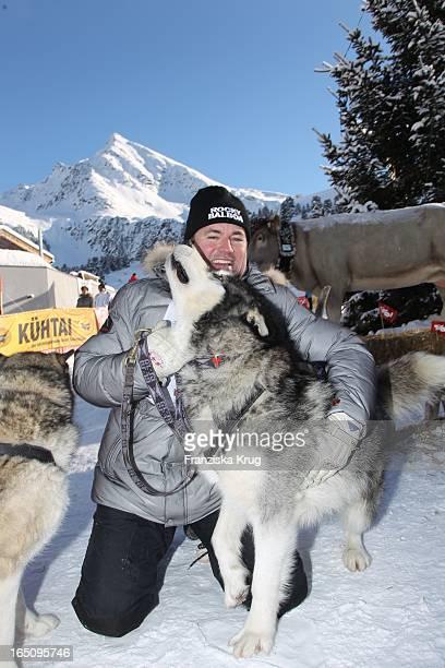 Wolfram Kons Beim 2 Promi Schlittenhunderennen Tirol Cross Mountain In Kühtai