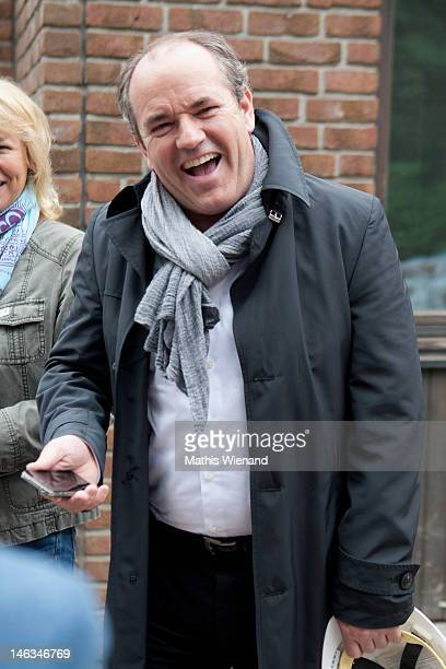 Wolfram Kons visits the Stups Children Center for the RTL Charity Marathon on June 13 2012 in Krefeld Germany