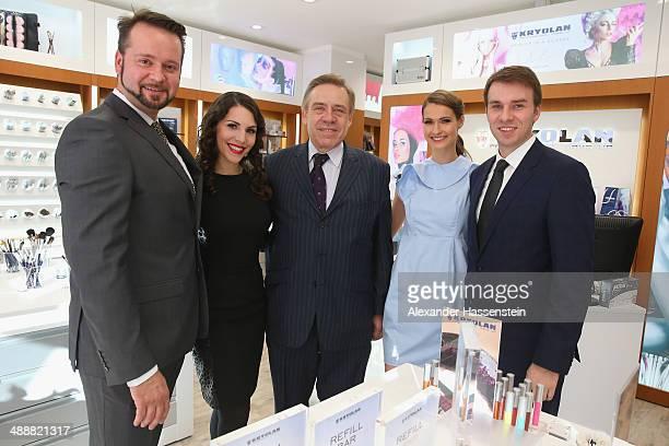 Wolfram Langer CEO of Kryolan attends with EvaMaria Reichert Sebastian Langer Miriam Mack and Dominik Langer directors of Kryolan the Kryolan MakeUp...