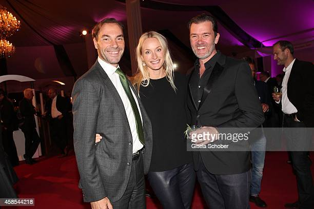 Wolfram Winter and wife Petra John Juergens DJ John Munich attend the Cotton Club Dinnershow Premiere at Ungerer Bad on November 6 2014 in Munich...