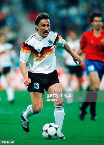 Wolfram Wuttke of Germany in action during the European Championship group 1 match between Germany and Spain at the Olympic Stadium on June 17 1988...