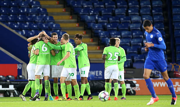 leicester city v vfl wolfsburg premier league international cup photos and images getty images. Black Bedroom Furniture Sets. Home Design Ideas