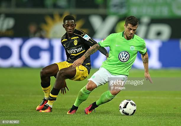 Wolfsburg Germany 1Bundesliga 4 Spieltag VfL Wolfsburg BV Borussia Dortmund vl Ousmane Dembele gegen Vieirinha