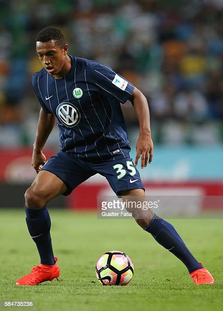 Wolfsburg's defender AntonLeander Donkor in action during the Pre Season Friendly match between Sporting CP and Wolfsburg at Estadio Jose Alvalade on...