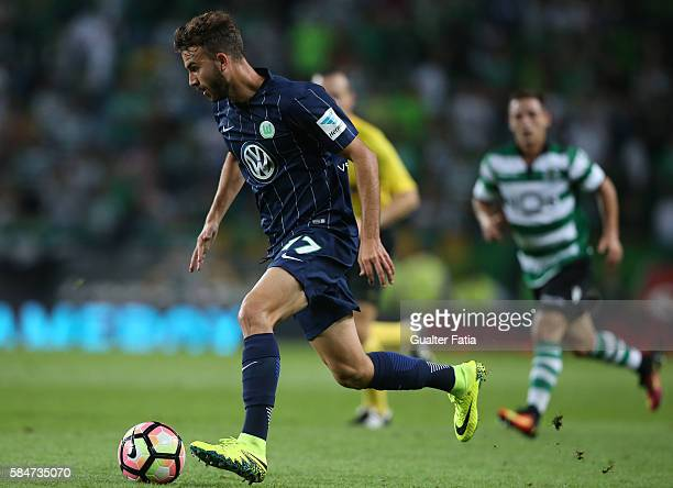 Wolfsburg's forward Borja Mayoral in action during the Pre Season Friendly match between Sporting CP and Wolfsburg at Estadio Jose Alvalade on July...