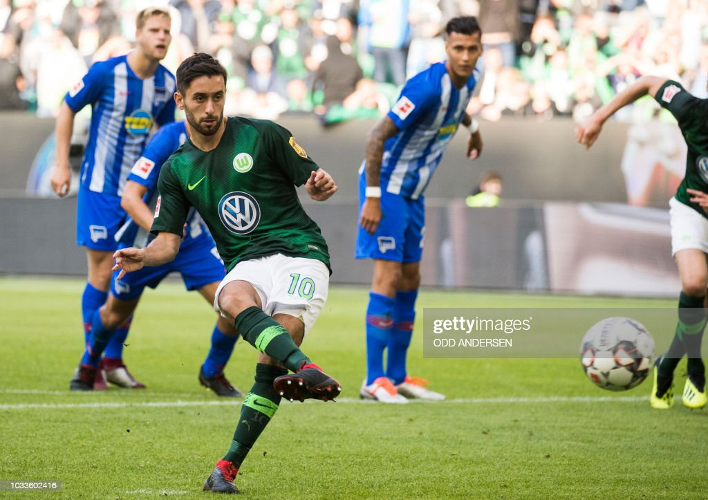 Image result for hertha wolfsburg penalty
